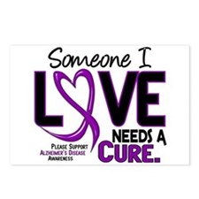 Needs A Cure 2 ALZHEIMERS Postcards (Package of 8)