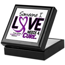 Needs A Cure 2 ALZHEIMERS Keepsake Box