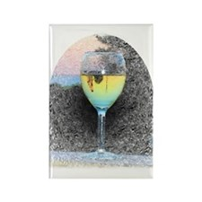 Castle Reflected in Glass, Rectangle Magnet (10 pa