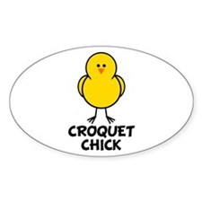 Croquet Chick Oval Decal