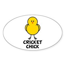 Cricket Chick Oval Decal