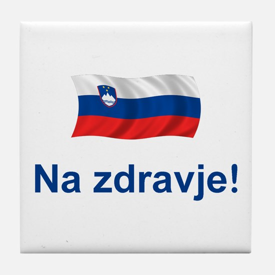 Slovenia Na zdravje Tile Coaster