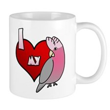 Love Galah Cockatoo Small Mug