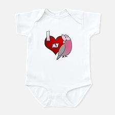 Love Galah Cockatoo Baby Bodysuit