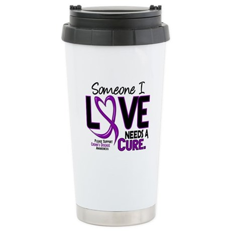 Needs A Cure 2 CROHNS Stainless Steel Travel Mug