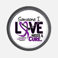 Needs A Cure 2 CROHNS Wall Clock