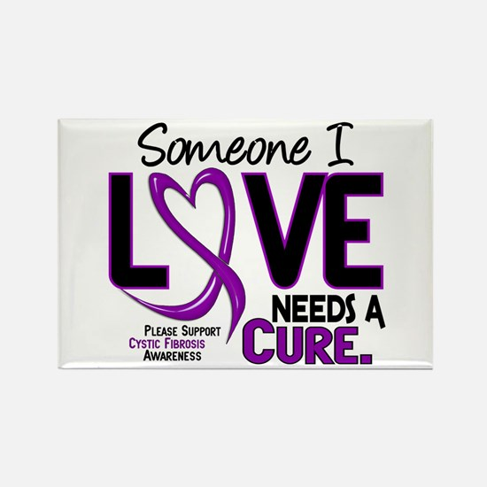 Needs A Cure 2 CYSTIC FIBROSIS Rectangle Magnet