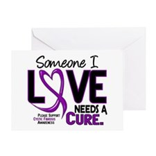 Needs A Cure 2 CYSTIC FIBROSIS Greeting Card