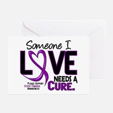Needs A Cure 2 CYSTIC FIBROSIS Greeting Cards (Pk