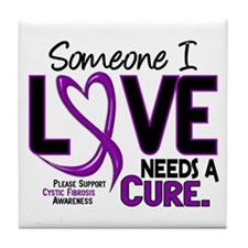 Needs A Cure 2 CYSTIC FIBROSIS Tile Coaster