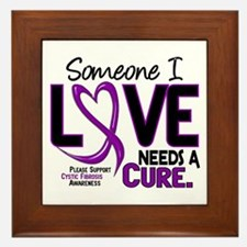 Needs A Cure 2 CYSTIC FIBROSIS Framed Tile