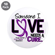 """Needs A Cure 2 CYSTIC FIBROSIS 3.5"""" Button (10 pac"""