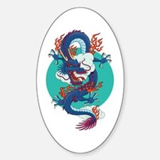 Chinese Dragon Oval Decal