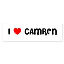I LOVE CAMREN Bumper Bumper Sticker