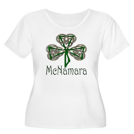 McNamara Shamrock Women's Plus Size Scoop Neck T-S