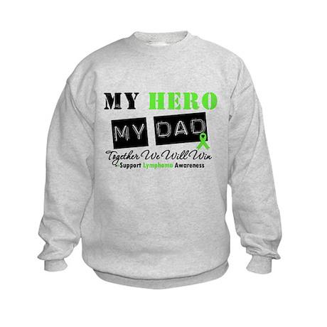Lymphoma Hero Dad Kids Sweatshirt