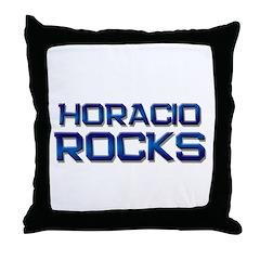 horacio rocks Throw Pillow