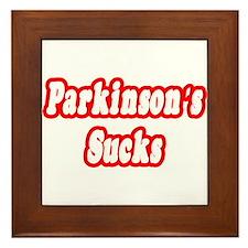 """""""Parkinson's Sucks"""" Framed Tile"""
