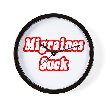 """""""Migraines Suck"""" Wall Clock"""