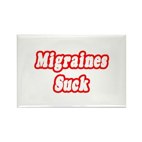 """Migraines Suck"" Rectangle Magnet"