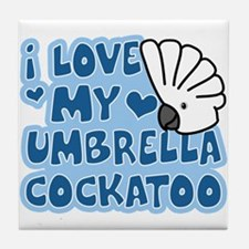 Kawaii Umbrella Cockatoo Tile Coaster
