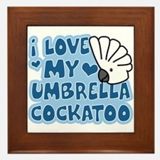 Kawaii Umbrella Cockatoo Framed Tile