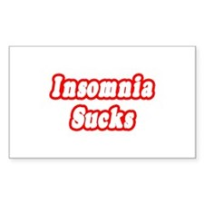 """Insomnia Sucks"" Rectangle Decal"