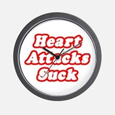 """Heart Attacks Suck"" Wall Clock"