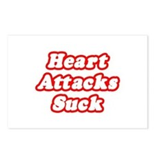 """Heart Attacks Suck"" Postcards (Package of 8)"