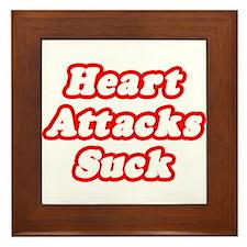 """""""Heart Attacks Suck"""" Framed Tile"""