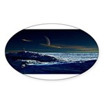 Saturn View Oval Sticker (10 pk)