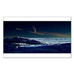 Saturn View Rectangle Sticker 10 pk)