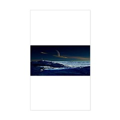 Saturn View Rectangle Decal