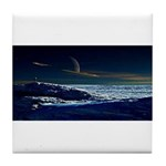 Saturn View Tile Coaster