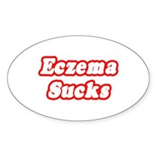 """Eczema Sucks"" Oval Decal"