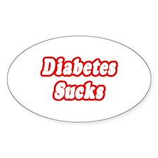 """Diabetes Sucks"" Oval Decal"