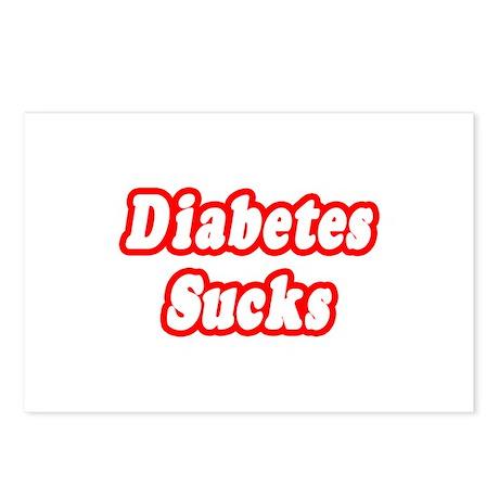 """""""Diabetes Sucks"""" Postcards (Package of 8)"""