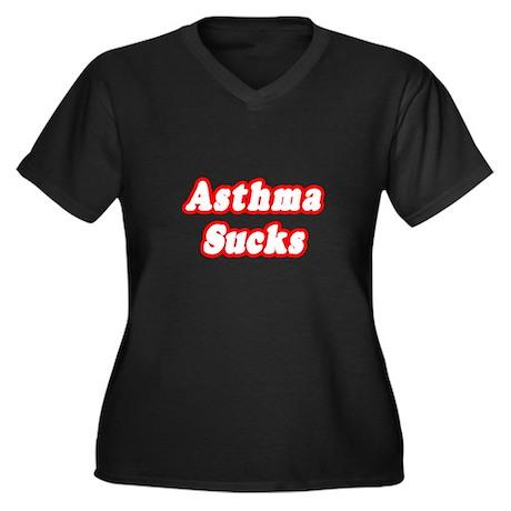 """Asthma Sucks"" Women's Plus Size V-Neck Dark T-Shi"