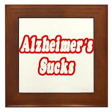 """""""Alzheimer's Sucks"""" Framed Tile"""