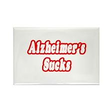 """""""Alzheimer's Sucks"""" Rectangle Magnet"""