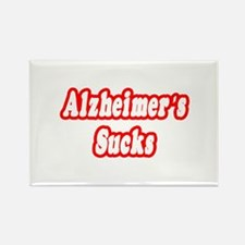 """Alzheimer's Sucks"" Rectangle Magnet"