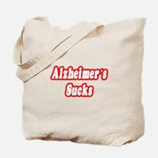 """Alzheimer's Sucks"" Tote Bag"