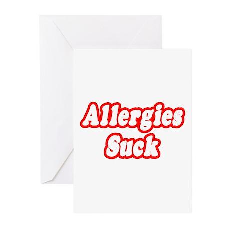 """Allergies Suck"" Greeting Cards (Pk of 20)"