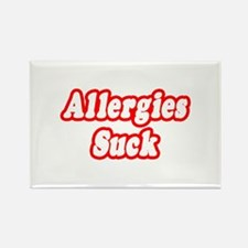 """Allergies Suck"" Rectangle Magnet"