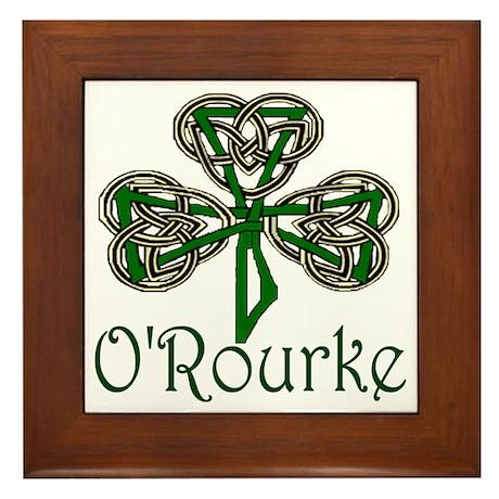 O'Rourke Shamrock Framed Tile