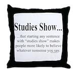 Studies Throw Pillow