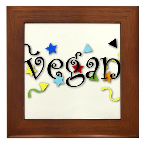 Vegan Curls Framed Tile