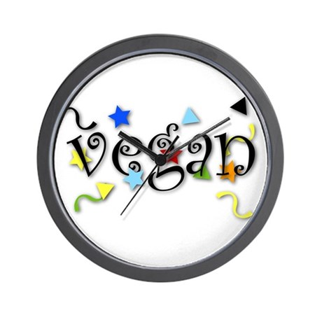 Vegan Curls Wall Clock