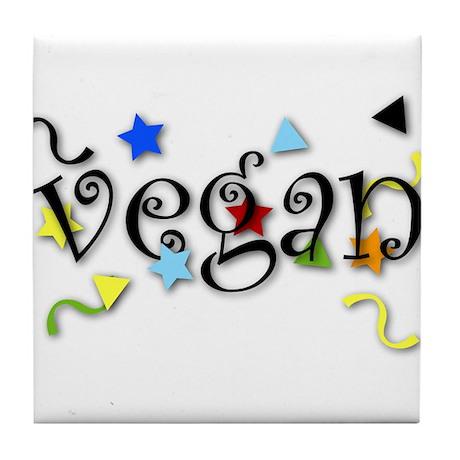 Vegan Curls Tile Coaster