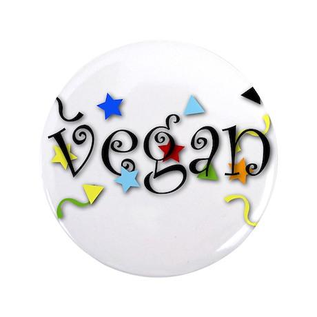 "Vegan Curls 3.5"" Button"